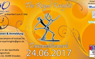 orangener Flyer Tanzwettbewerb the royal knights 2017