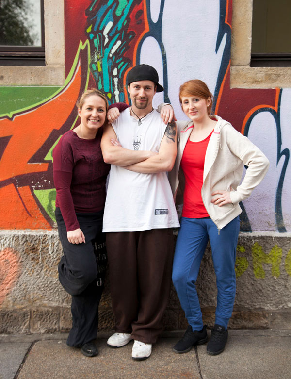Stephanie, Peter und Anne-Katrin, Gruppenfoto derTanztrainer