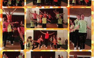 Collage aus Fotos vom Tanzauftritt der Old to New Show des Tanzverein Empire of Outcast